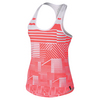 Women`s Court Graphic Tennis Tank 100_WHITE/HYPER_ORAN