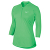 Women`s Court Long Sleeve Dry Tennis Top 300_ELECTRO_GREEN