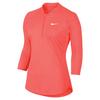 Women`s Court Long Sleeve Dry Tennis Top 877_HYPER_ORANGE