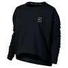 Women`s Baseline Long Sleeve Tennis Top 010_BLACK