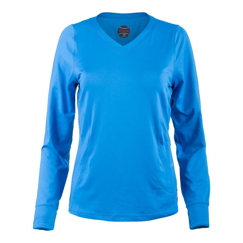 Women's Angelina Long Sleeve Tennis Top Blue