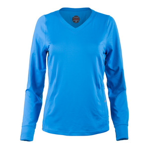 Women`s Angelina Long Sleeve Tennis Top Blue