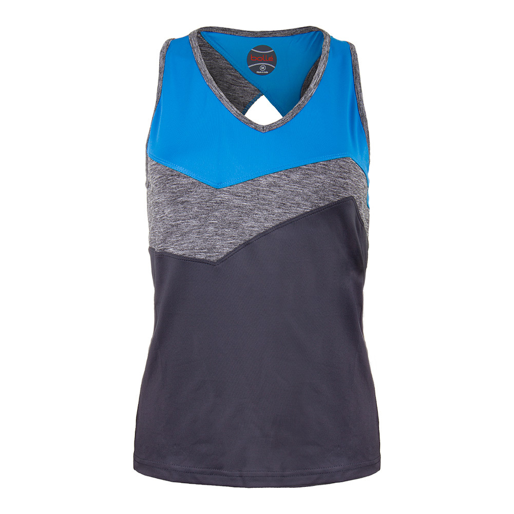 Women's Angelina Tennis Racerback Graphite And Blue
