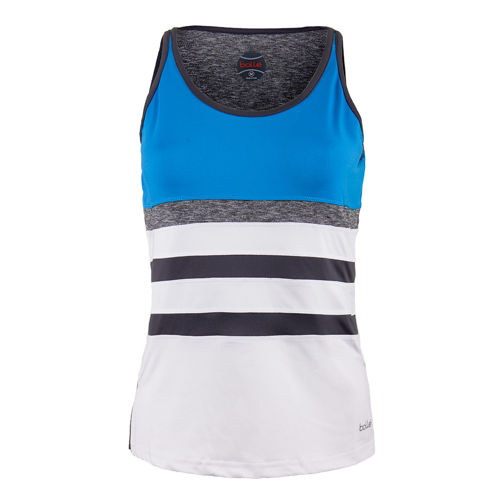 Women's Angelina Tennis Tank White And Blue