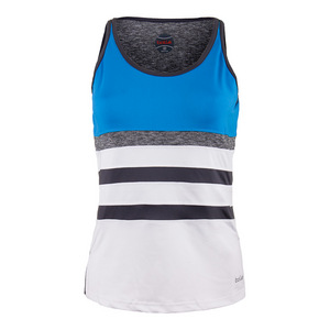 Women`s Angelina Tennis Tank White and Blue