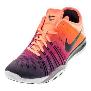 Women`s Free TR 6 Spectrum Training Shoe Bright Mango and Black