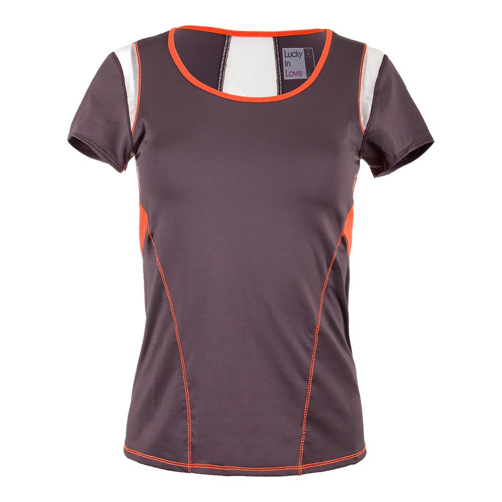 Women's Scoop Neck Tennis Cap Sleeve Shale