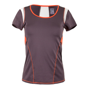 Women`s Scoop Neck Tennis Cap Sleeve Shale
