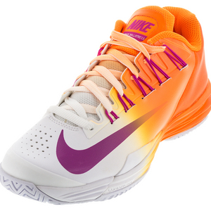 Men`s Lunar Ballistec 1.5 Tennis Shoes Bright Citrus and White