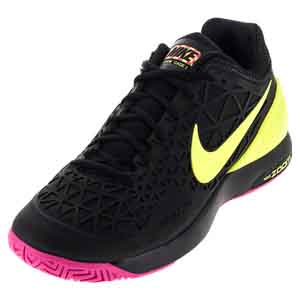 Men`s Zoom Cage 2 Tennis Shoes Black and Volt