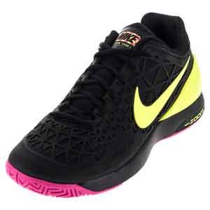 Men`s Zoom Cage 2 Tennis Shoes Black and Volt