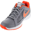 NIKE Men`s Air Vapor Ace Tennis Shoes Stealth and Total Crimson