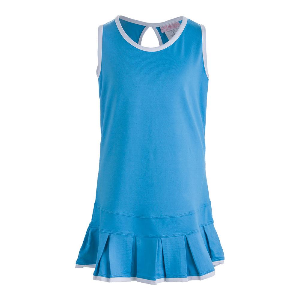 Girls ` Pleated Tennis Dress Blue