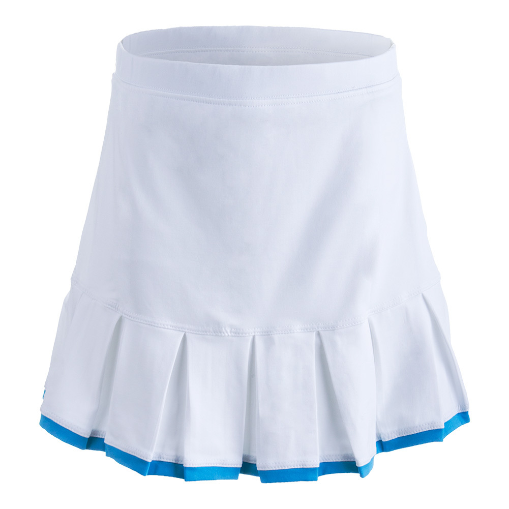 Girls ` Pleated Tennis Skort White