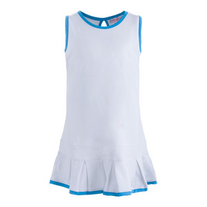 Girls` Pleated Tennis Dress White