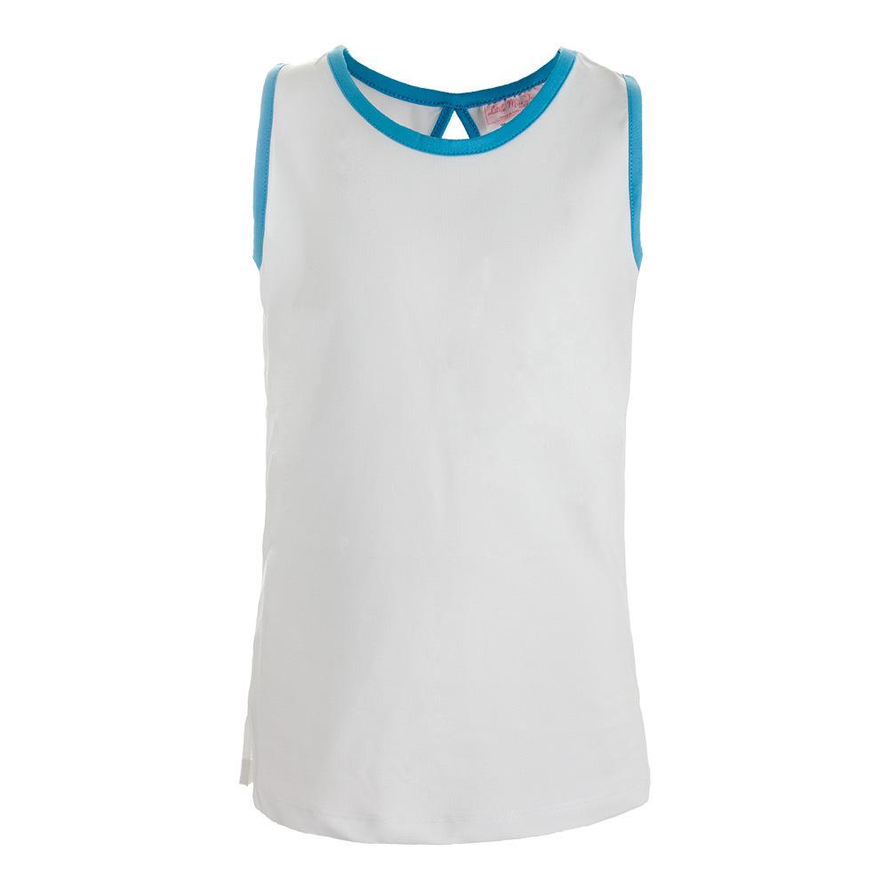 Girls ` V- Neck Tennis Tank White