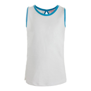 Girls` V-Neck Tennis Tank White