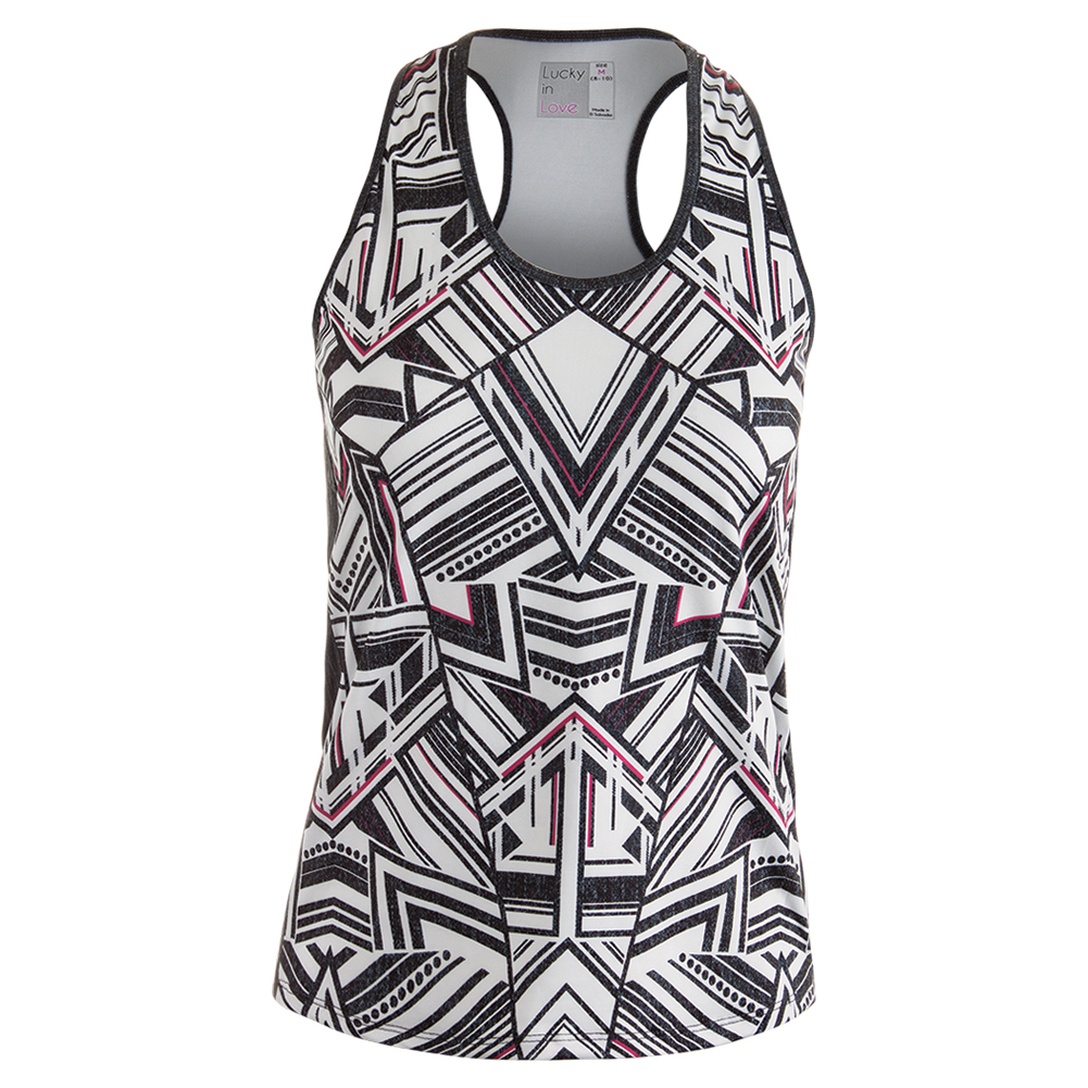 Women's In The Fast Lane Racerback Tennis Tank Print