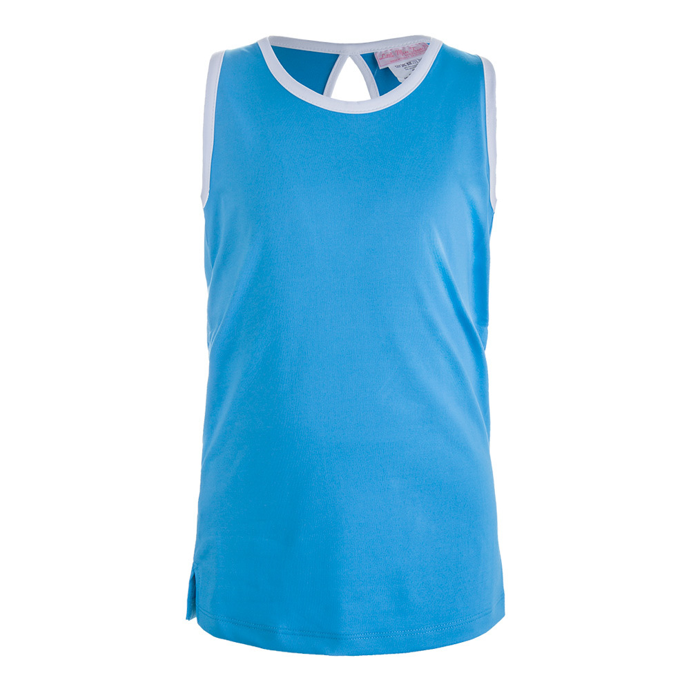Girls ` V- Neck Tennis Tank Blue