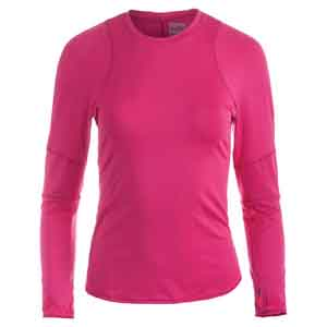 Women`s Long Sleeve Tennis Crew Neck Raspberry