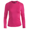 LUCKY IN LOVE Women`s Long Sleeve Tennis Crew Neck Raspberry