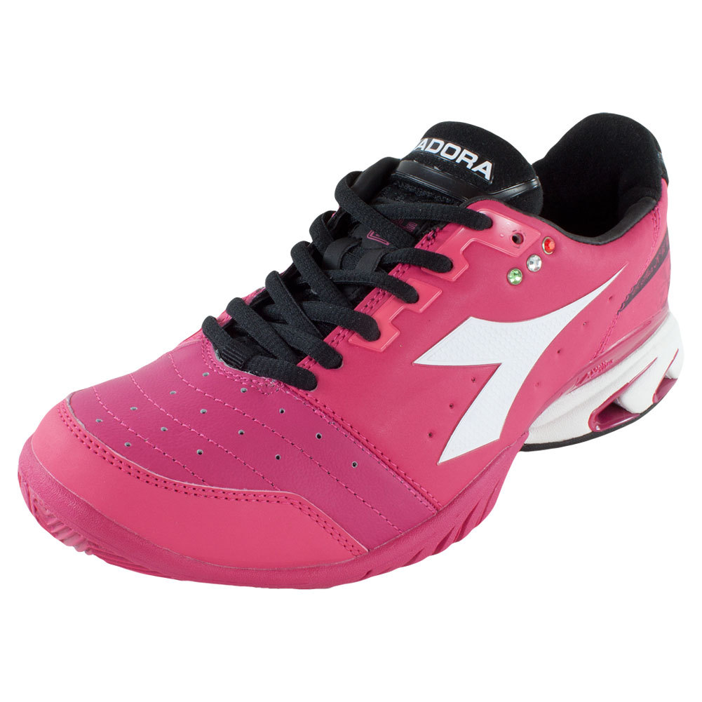Women's S Star K Iii Ag Tennis Shoes Bright Rose And White