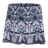 LUCKY IN LOVE Women`s Long In the Fast Lane Gore Tennis Skort Print
