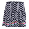 LUCKY IN LOVE Women`s Long Night Life Rouched Scallop Tennis Skort Print