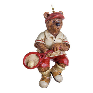 Bear with Tennis Racquet Christmas Ornament