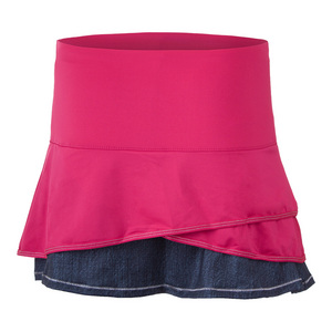 Women`s Long Scallop Tennis Skort Raspberry