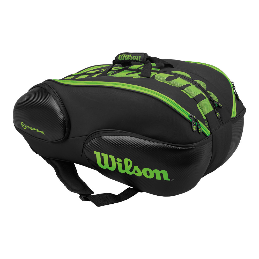 Blade 15 Pack Tennis Bag Black And Green