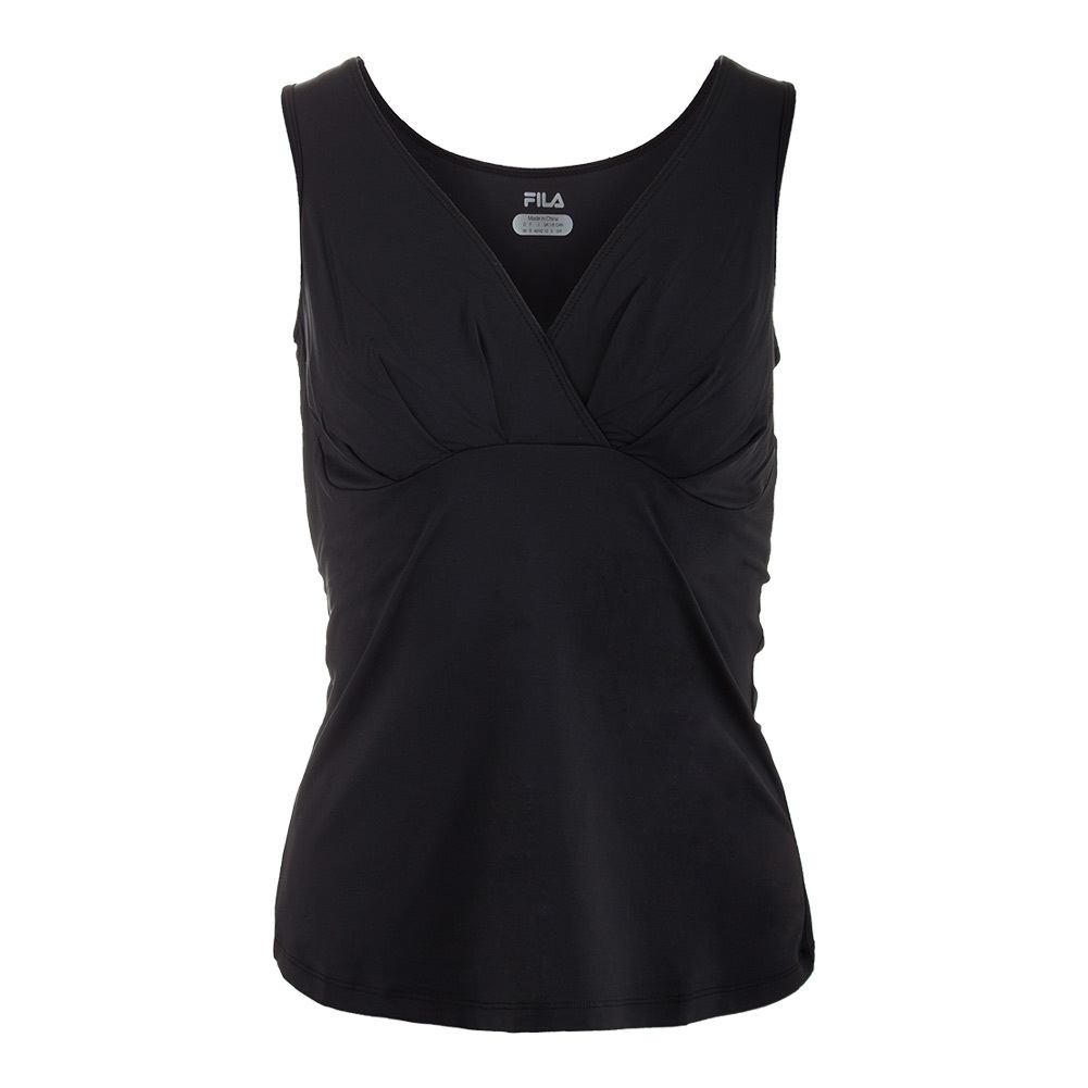 Women's Court Couture Ruched Tennis Tank Black
