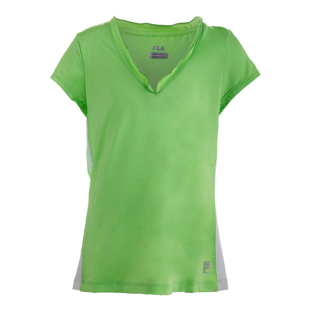 Girls ` Kiddie Couture Cap Sleeve Tennis Top Pistachio