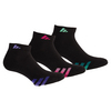 ADIDAS Women`s Cushion Low Cut Socks 3 Pack Black Size 5-10