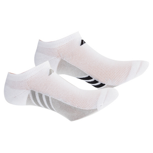 Women`s Superlite No Show Socks 3 Pack White and Gray Size 5-10