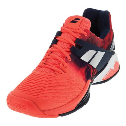 Men`s Propulse Fury All Court Tennis Shoes Fluro Red