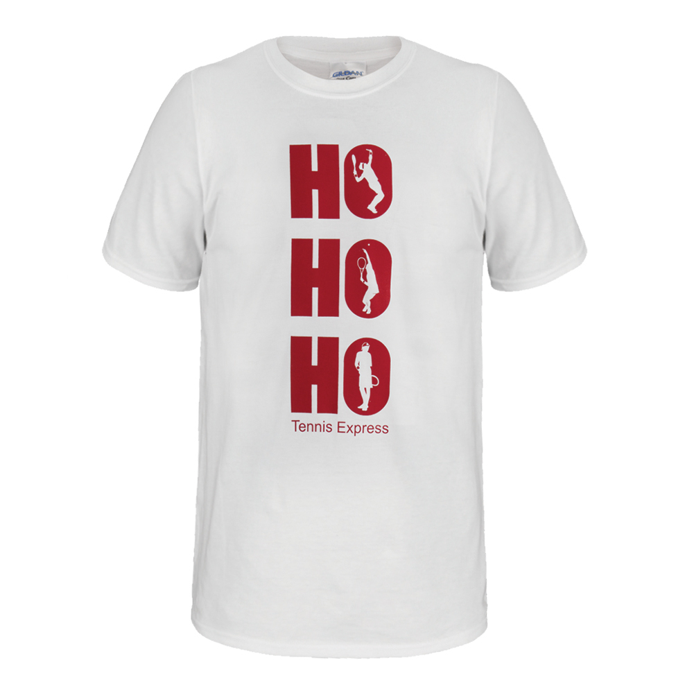 Ho Ho Ho Unisex Tennis Tee In White