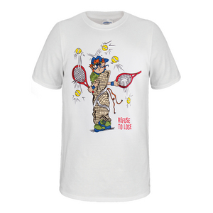 Refuse To Lose  Unisex Tennis Tee in White