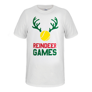 Reindeer Games Unisex Tennis Tee in White