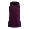 ATHLETIC DNA Women`s Spiralgraph Mesh Back Racerback Tennis Tank Sangria