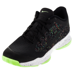 Men`s Air Zoom Ultra Tennis Shoes Black and Ghost Green