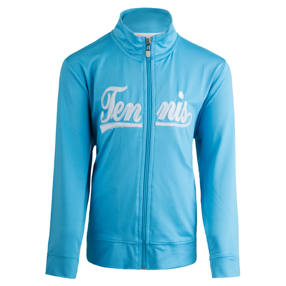 Girls ` Zip Front Tennis Jacket Blue