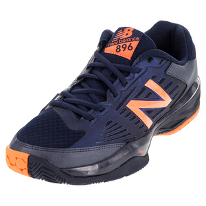 Men`s 896 D Width Tennis Shoes Blue and Orange
