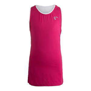 Girls` Mesh Back Racerback Tennis Tank Sangria