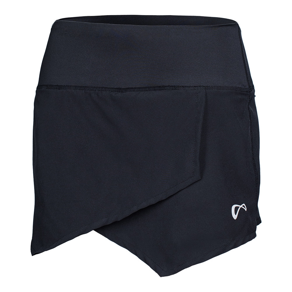 Women's Origami Tennis Skort Black