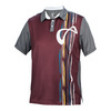 ATHLETIC DNA Men`s Rainforest Mesh Back Short Sleeve Tennis Polo Port Royale