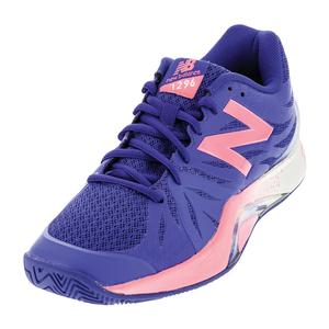 Women`s 1296v2 B Width Tennis Shoes Blue and Guava