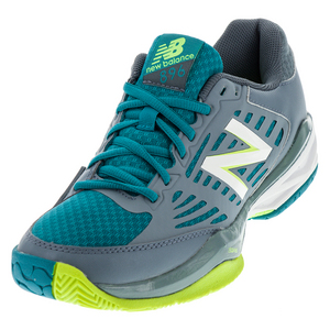 Women`s 896v1 B Width Tennis Shoes Cyclone and Deep Water
