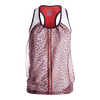 LUCKY IN LOVE Women`s Spot On Mesh Drape Tennis Tank Print