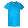 Girls` Short Sleeve Tennis Top 410_OCEAN